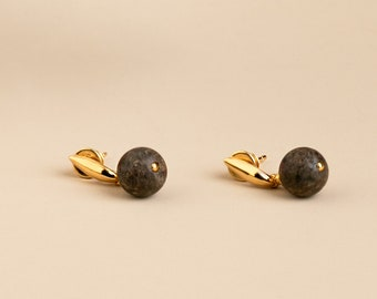 Long Stud Earrings for Women BLACK BERRIES