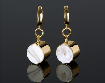 Gold Dangle Earrings with Amber MARCIPANO