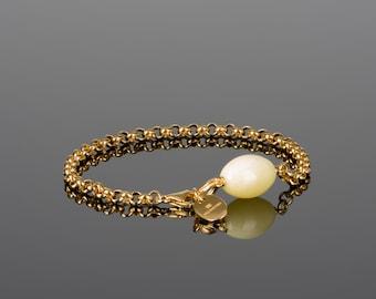 Amber bracelet, white amber bracelet, white gold bracelet, rolo bracelet, white gold amber, baltic amber jewelry, baltic amber, white amber