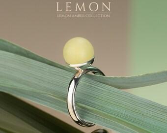 Personalized Gift of Raw Gemstone Ring, Gemstone Stacking Rings, Carved Gemstone Ring, Baltic Amber Ring