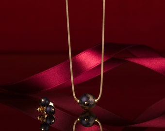 Black amber jewelry Set NERO