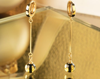 Long Amber Earrings TIGER