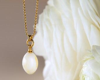White amber pendant, Gold amber, Baltic amber pendant, Amber gold, White stone necklace, 24 k gold pendant, Gold vermeil pendant