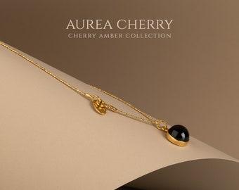 Gold amber pendant, Red amber pendant, Cherry amber, Cherry amber pendant, Everyday pendant, Elegant pendant, Baltic amber, Amber gift