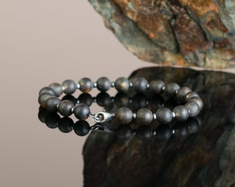 Black Amber Bracelet for Men BLACK ROCK