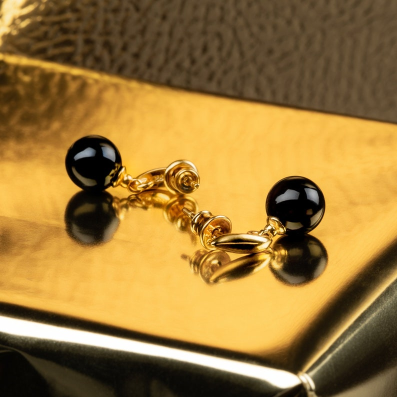 Gold Amber Earring Jewelry Gift for Her Baltic Amber Earring image 0