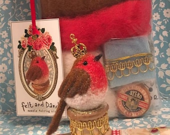 Robin on Bobbin Needle Felting  Kit
