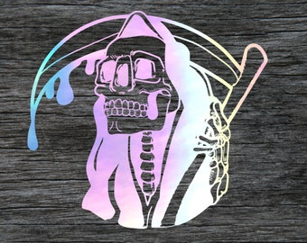 accessory for Automotive cups reaper death cell computer phone window decoration mugs glass vinyl decal car Grim Reaper sticker