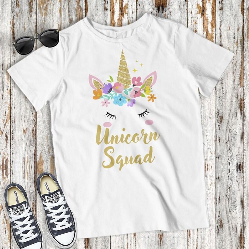 Unicorn Girl TShirt T-Shirt Tee Kids Children Cute Unisex Fantasy Cool Funny