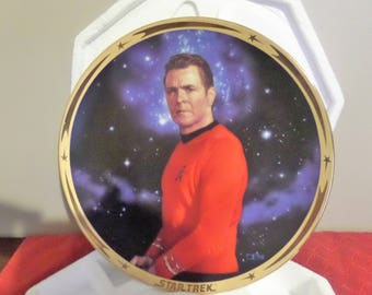 "Star Trek ""Scotty"" Collector's Plate.   25th Anniversary Series.  Retired 1998"