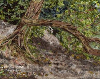 Whispers of Nature. Giclée Print. tree, woodland, felt, fibre