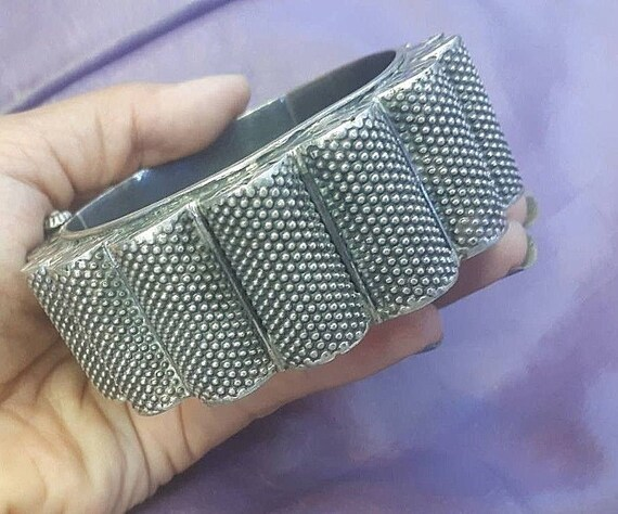 Gorgeous! Antique Rajasthan bangle Sterling silver