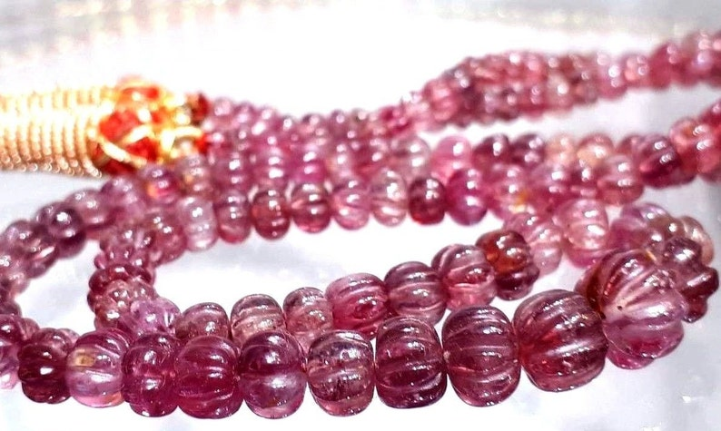 Splendid Genuine Pretty Natural Pink Ruby Faceted graduated Bead 6-8 mm Strand