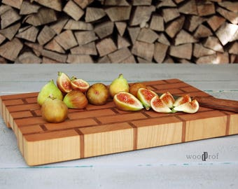 "Endgrain cutting board ""Brick wall"""