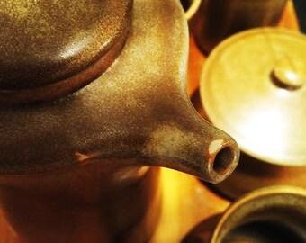 Vintage Temuka Stoneware 70s Pottery Coffee Set