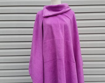 Radiant Orchid Fleece Poncho