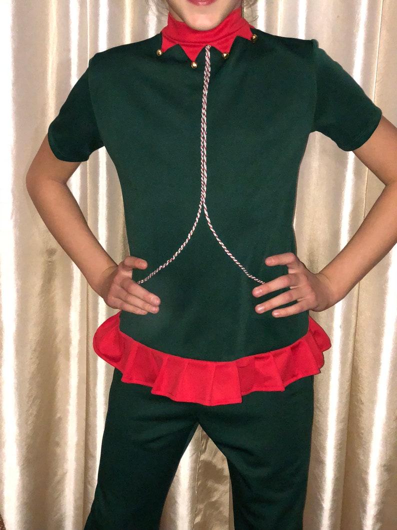 71180921867ba Drôle Elf Tenue Femmes Chapeau D enfants Lutin Noël Adultes Bébé De Hommes  Pyjama Costume Elfe PZuXOki