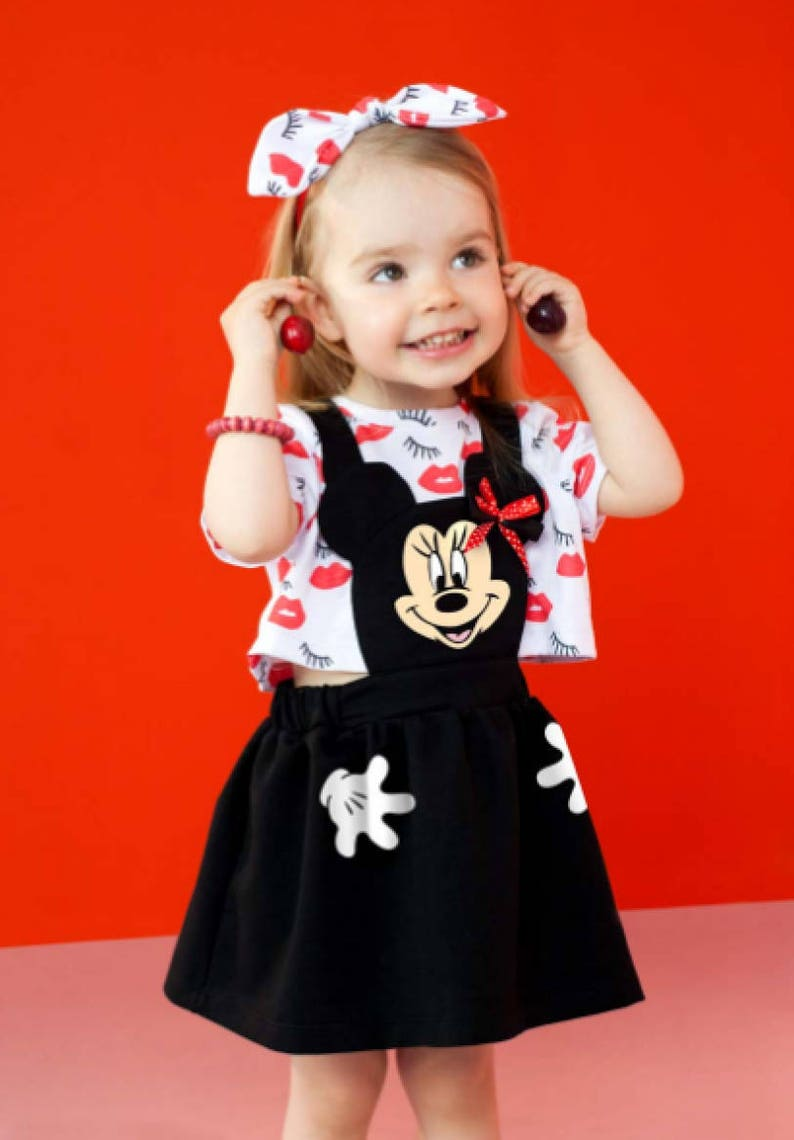 e258ea56960 Minnie Mouse Dress Minnie Dress outfit Disney Dress Black Minnie Mouse  Dress Baby Girl Minnie mouse first birthday outfit Toddler Costume