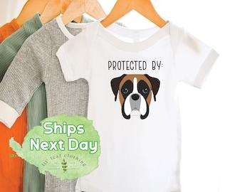 Boxer Dog Baby Onesie®   Dog Lover Pet Baby Onesie® or Toddler T-shirt  (347)