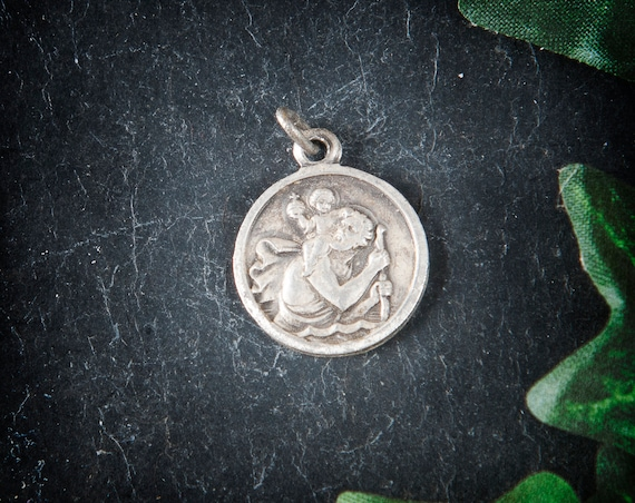 Religious Obsession Antique Gold St Christopher Keychain