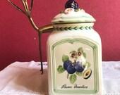 Villeroy - Boch 1748 - French Garden Charm - quot prunus domestica quot - storage pot - farmhouse - faience