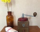 Vintage coffee grinder Vintage french coffee Peugeot - wooden coffee grinder mill peugeot 1950 France rustic decor