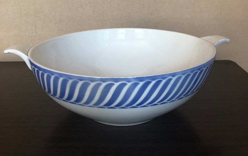 Bowl  vegetable dish by DIGOIN SARREGUEMINES ears  model Jacquot  faience antique French manufacture