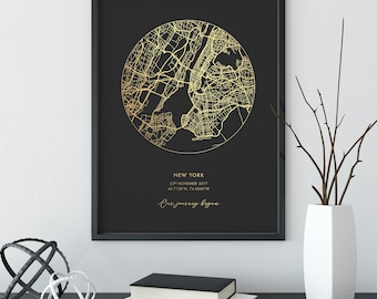 Custom wall map | Etsy