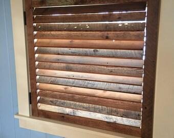 Rustic window louvers