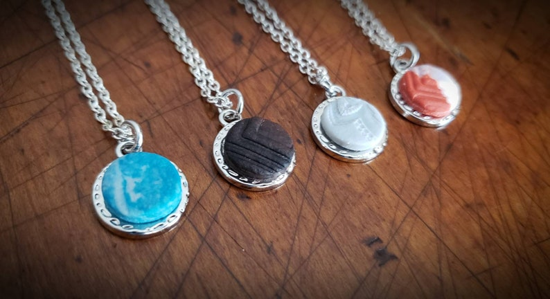 Polymer Clay Pendant Diffuser Necklace Aromatherapy Necklace Pendant Necklace Essential Oil Diffuser Necklace Polymer Clay