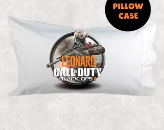 Call Of Duty Theme Pillow Case Call Of Duty Pillowcase Kids Decor