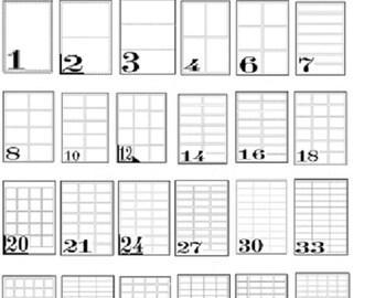 Adresse Etiketten A4 Blatt selbst klebriger für Inkjet/Laser-Drucker billigsten