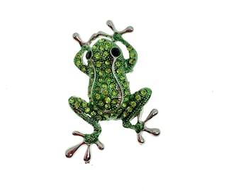 Animal Rhinestones Silver Setting Metal Craft Embellishment Frog Charms Kids Charm Boutique Supplies Crafting Supply Frog Rhinestones
