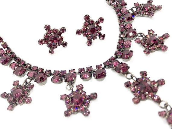 Sassy Chic Bohemian Stars Necklace & Earrings Set - Sparkly Gypsy Jewelry