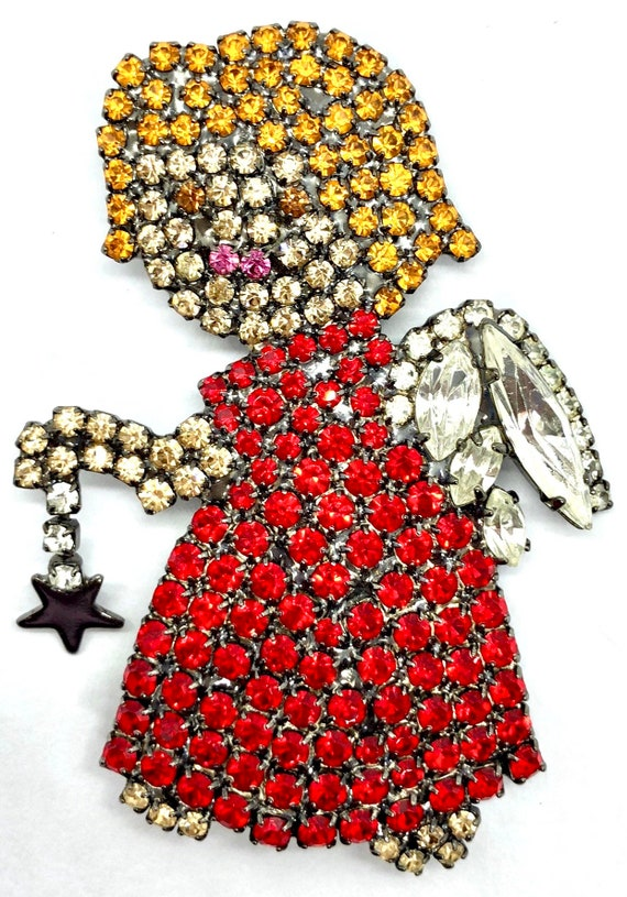 Sweet Little Angel Pin - Holiday - Signed