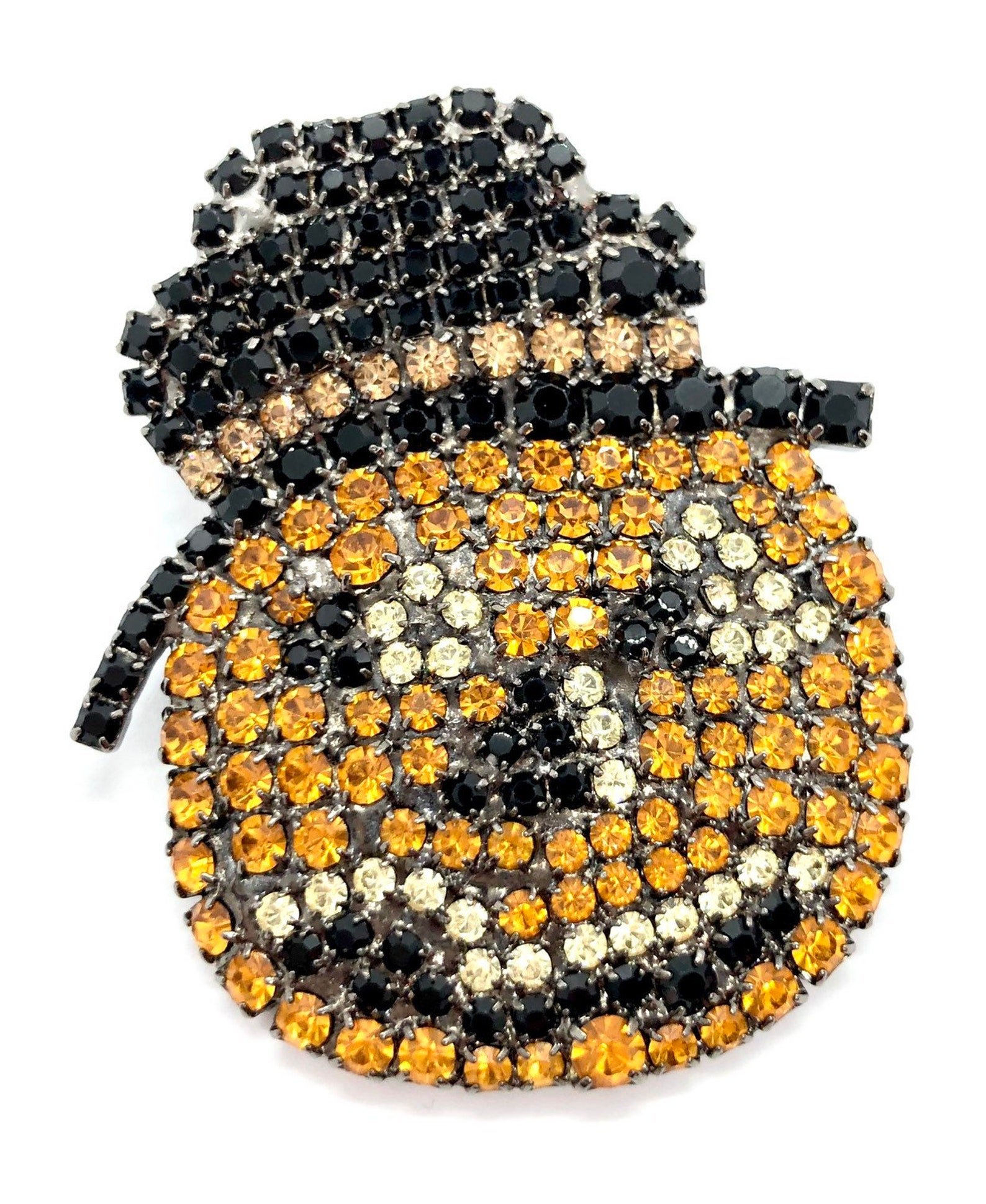 Jack O Lantern Swarovski Crystal Brooches
