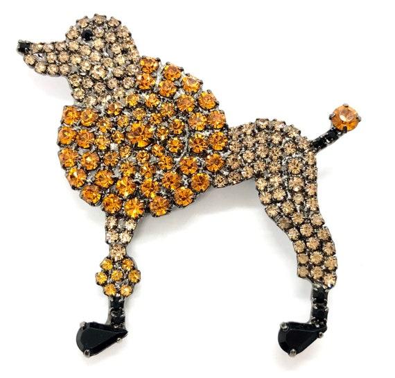 Apricot Retro Poodle Pin - Whimsical Standard Pood