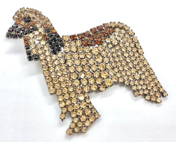 Elegant Afghan Hound Dog Pin - von Walhof Brooch
