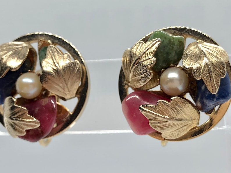 1965 Walt Disneys Anette Funicello Monkeyd Uncle Vintage Earrings Signed Sarah Coventry