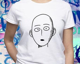 One Punch Man shirt/ Saitama tshirt/ Anime tee/ Japanese anime/ womens t shirt/ women tee/ One-Punch Man/ Superhero/ Saitama shirt/ (B170)