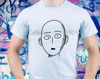 One Punch Man shirt/ Saitama tshirt/ Anime tee/ Japanese anime/ Mens t shirt/ Men tee/ One-Punch Man/ Superhero/ Bald/ Saitama shirt/ (B170)