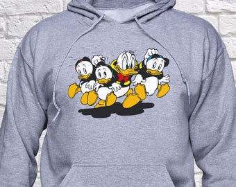 Donald Duck sweatshirt/ Huey, Dewey, Louie hoodie/ DuckTales pullover/ Duck Tales/ Walt Disney/ sweater/ jumper/ Hoody/ Funny gift/ (B107)