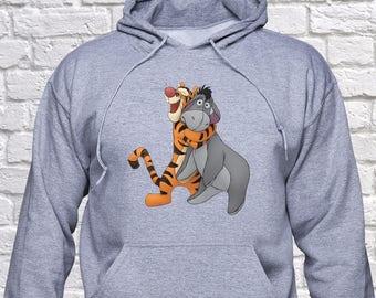 Tigger and Eeyore sweatshirt/ Eeyore Tigger friends hoodie/ Tigger Best Friend pullover/ sweater/ Eeyore friend sweatshirt/ Disney/ (B31)