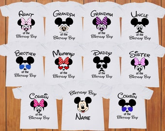 Mickey Mouse Birthday Boy Shirt Party Tshirt Disney Custom Family Shirts Personalized Tee