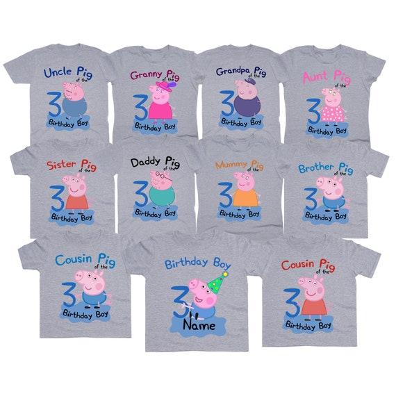 Peppa Pig Birthday Boy Shirt Family Tshirt