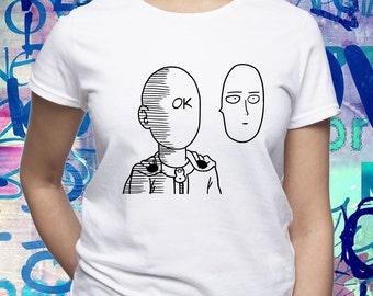 Saitama Ok shirt/ One Punch Man shirt/ Saitama t-shirt/ Saitama funny tee/ Japanese anime/ womens t shirt/ women tee/ One-Punch Man/ (B173)