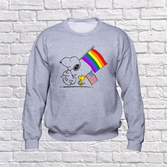 d8967edf69 Make America Gay Again sweatshirt  Snoopy Woodstock hoodie