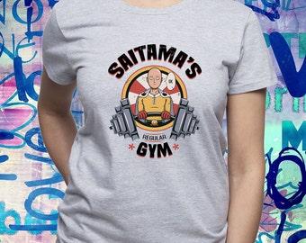Saitama's Gym shirt/ One Punch Man shirt/ Saitama t-shirt/ Saitama Gym tee/ Japanese anime/ womens t shirt/ woman tee/ One-Punch Man/ (B172)