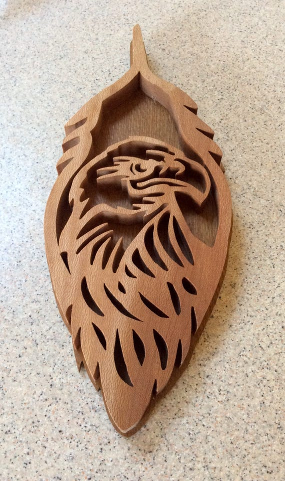 Eagle Plaque Wood Plaque Iconic Symbols Eagle Feather Etsy
