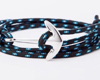Silver Plated Anchor Friendship Bracelet.